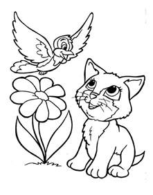 printable color pages lovely kitten coloring pages