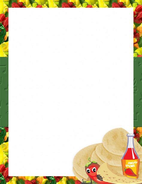 mexican menu template free mexican menu template free 3 best agenda templates