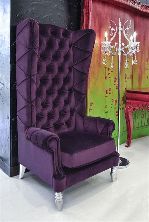 Purple High Back Chair by Baroque High Back Chair Purple Chair Chairs And More