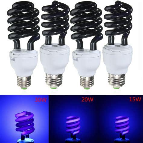 uv black light bulbs uv ultraviolet spiral low energy saving cfl light e27