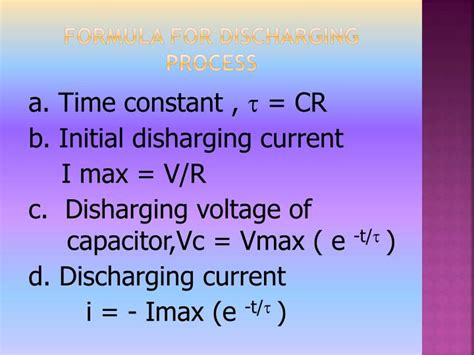 capacitor time constant problems ppt process of charging and discharging in a capacitor powerpoint presentation id 3416845