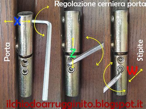 regolazione porta blindata come regolare la cerniera di una porta il chiodo