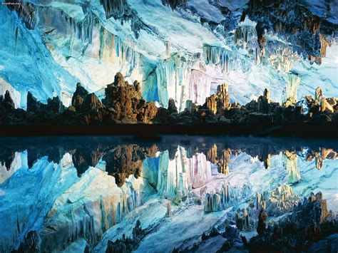 reed flute cave evening photo reed flute cave china blazing cat fur