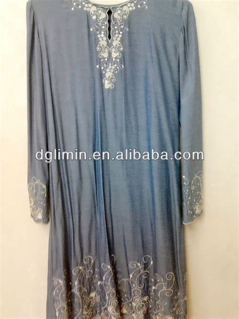 Jilbab Velvet Sequin Cantik 283 wholesale abaya jilbab kaftan muslim islamic modesty fashion clothing arab style