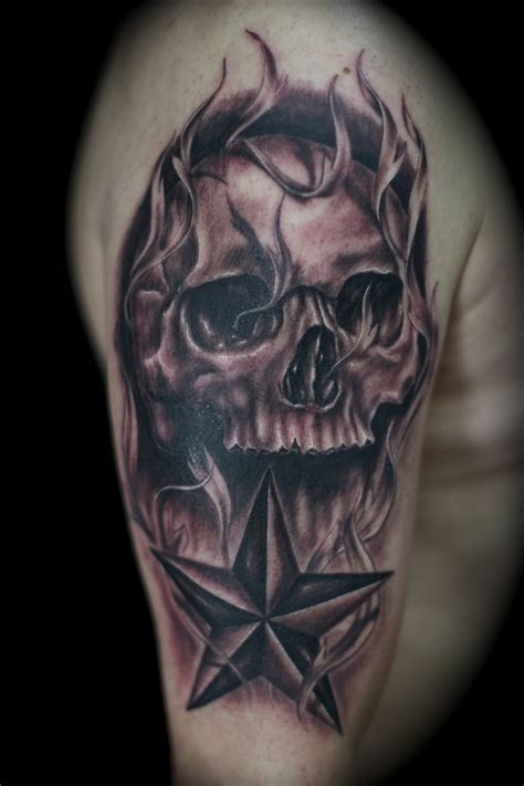 skull and star tattoo designs black skull design www pixshark images