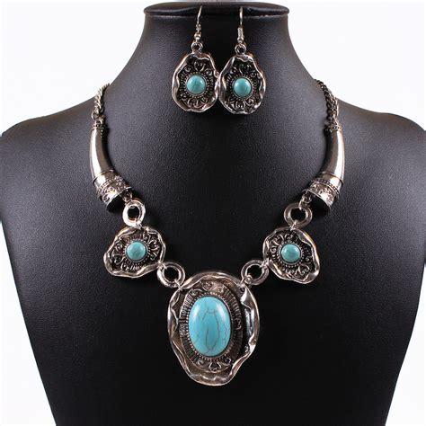 new fashion vintage silver necklace for women statement