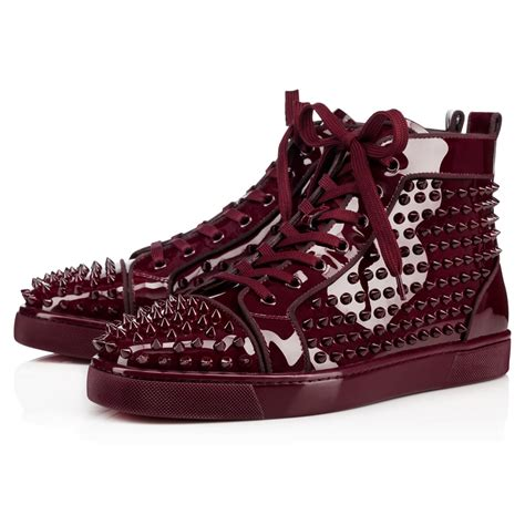 christian louboutin sneakers for christian louboutin louis orlato metal patent spikes
