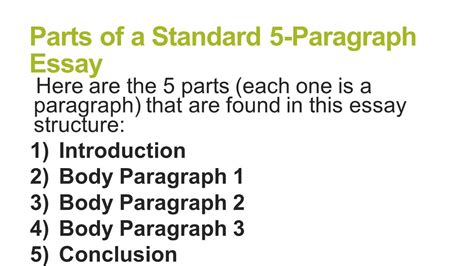 An Introduction 2 by 5 Paragraph Essay Structure Ppt