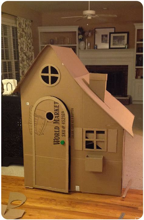cardboard house how to build a cardboard playhouse love laugh lose your mind