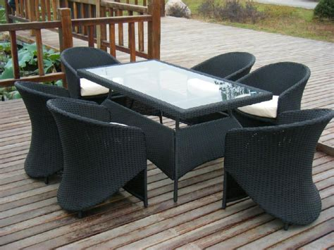Wicker Dining Chairs For Beautifully Comfortable Space Rattan Patio Table And Chairs
