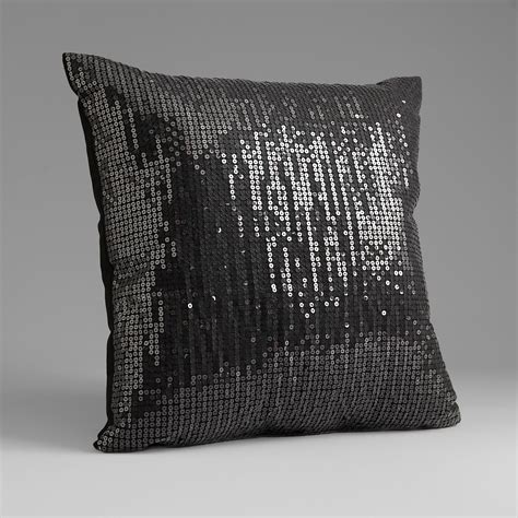 Sequin Decorative Pillows by Sofia By Sofia Vergara Black Magic Sequin Decorative Pillow
