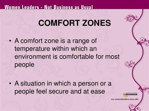 comfort zone temperature range bulding bridges removing barriers