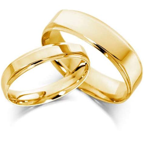 Gold Wedding Bands Sets His and Hers   Wedding and Bridal