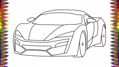 supercar drawing how to draw a car lykan hypersport easy step by step