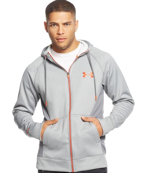 Sweater Jaket Zipper Hoodie Armour Athleticsgray armour coldgear infrared zip hoodie in gray for lyst