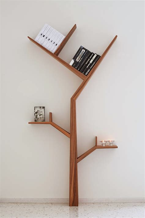 creative tree shape book shlef for interior home decorations