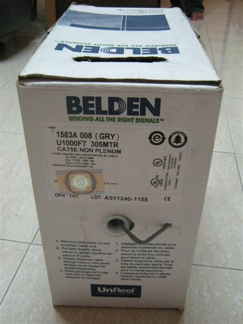 Kabel Lan Utp Belden Cat5e Cat 5e Original jual kabel utp cat5e belden ori wobble