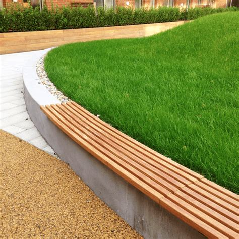 seat wall woodberry wall seat woodscape esi external works