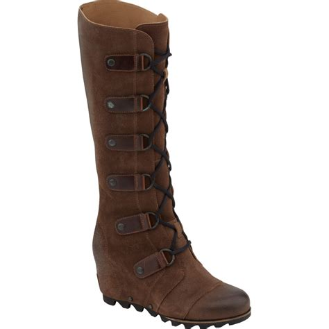 sorel joan of arctic leather wedge boot s