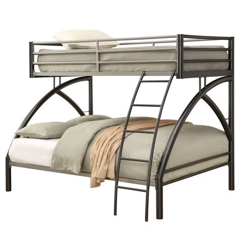 coaster twin loft bed with desk coaster twin over full bunk bed in gunmetal 460079