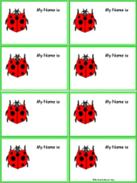 free printable ladybug name tags ladybugs at enchantedlearning com