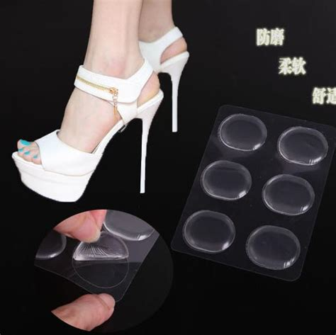 high heel support inserts 12pcs lot silicone support shoe pad high heel gel insoles