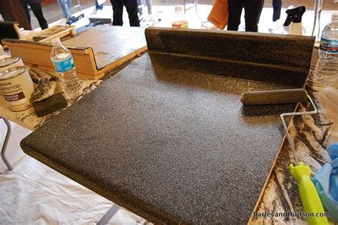 Countertop Makeover by Eco Friendly Laminate Countertop Makeover