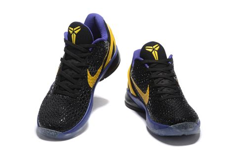 black and purple basketball shoes nike zoom 6 black purple yellow basketball shoes