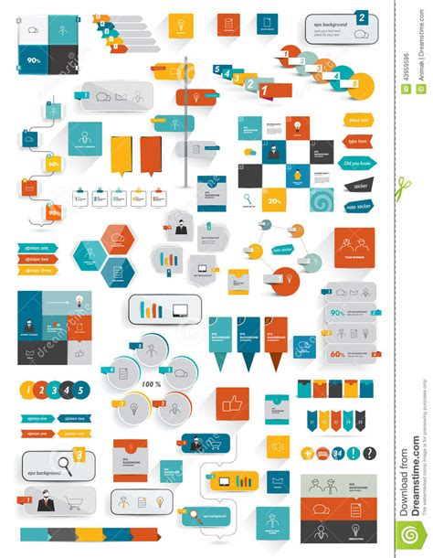 managing ui pattern collections collections of infographics flat design template stock