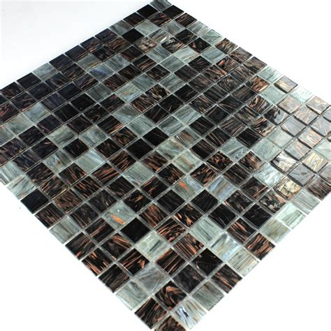 fliesen dunkelgrau glas effekt mosaik fliese gold dunkelgrau tm33038m