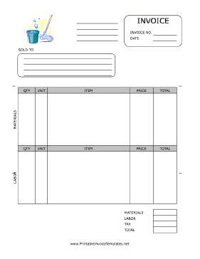 printable housekeeping receipt housekeeping invoice template