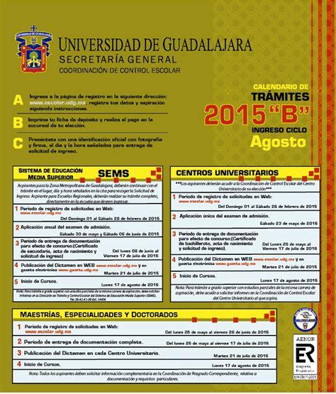 Calendario B Udg 2015 Secundaria 90 Preparatoria