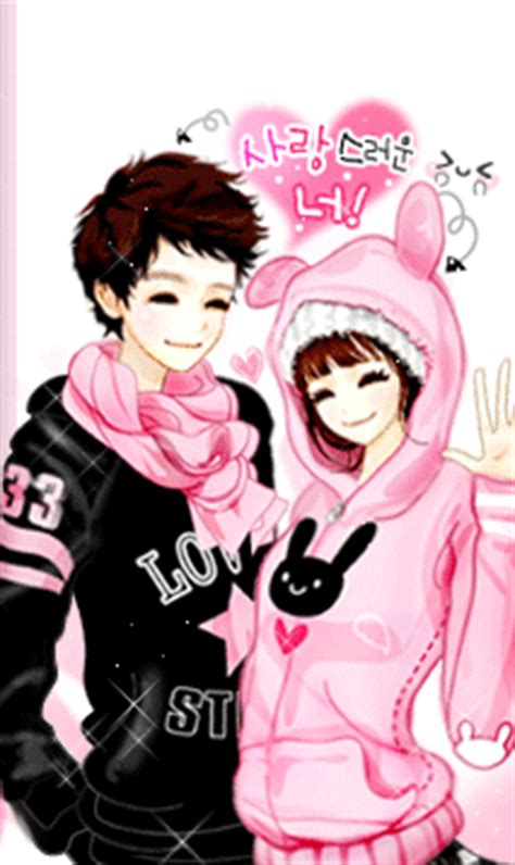 wallpaper cute korean couple boy girl korean anime pinterest