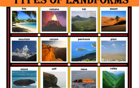 types of landforms: introduction, examples eschool