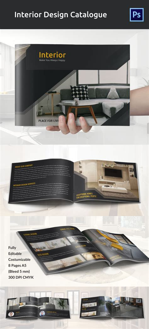 free home interior design catalog interior design brochure 25 free psd eps indesign