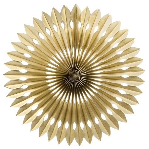 golds the fan gold paper fan 40cm splendourparty splendour