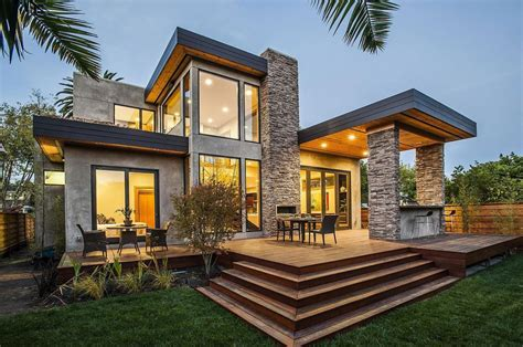 Contemporary Style Home in Burlingame, California   Architecture   Architectural Drawings