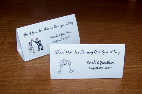 place cards for wedding 100 personalized wedding tent table place cards style 2 ebay