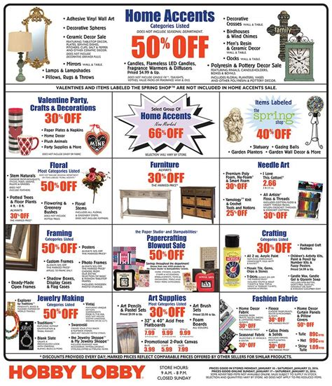hobby lobby ls on sale hobby lobby weekly ad on pinterest a selection of the