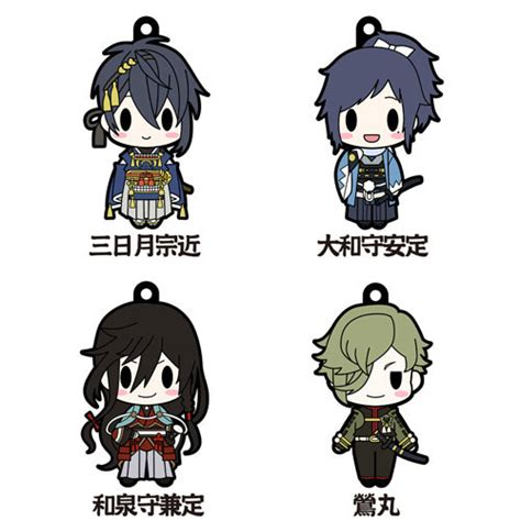 D4 Touken Ranbu Rubber Collection Honebami buy keychains straps touken ranbu d4 rubber