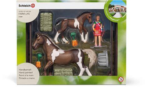 Schleich horse feeding playset horses farm toys online