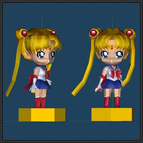 Sailor Moon Papercraft - chibi sailor moon ver 3 free papercraft