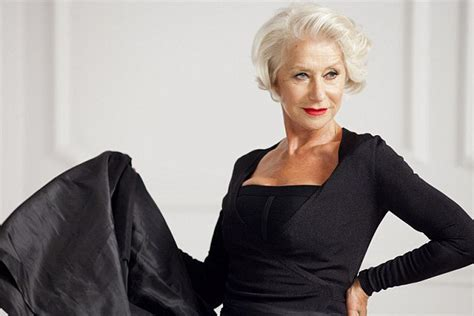 older commercial actresses dame helen mirren reveals her new ad caign as she
