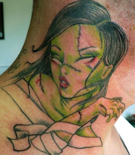 neck tattoo zombie neck tattoos pictures page 3