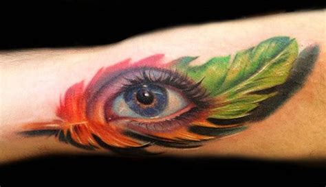feather tattoo near eye 8 eye tattoos on half sleeve