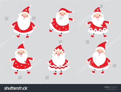 santa on doodle santa claus doodle stock vector 117423214