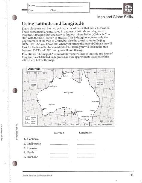 printable quiz on latitude and longitude worksheets on latitude and longitude lesupercoin