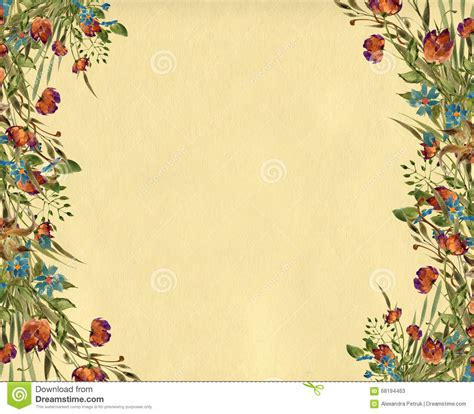 Borders Clipart 218945 Illustration By by Flower Border Design Illustration Stock Illustration