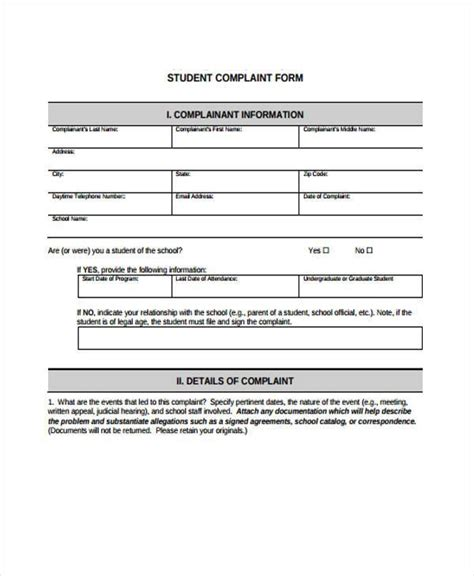 complaints register template image collections templates