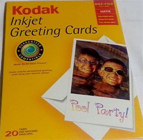 inkjet printable note cards kodak inkjet greeting cards electronics print copy scan